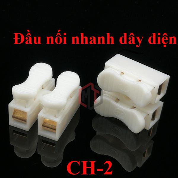 Bộ 20 Cút nối dây điện nhanh CH-2 (domino kẹp) - mối nối đẹp, gọn gàng, an toàn, chống chạm chập điện, cháy nổi trong các hộp âm tường hoặc hộp nổi…