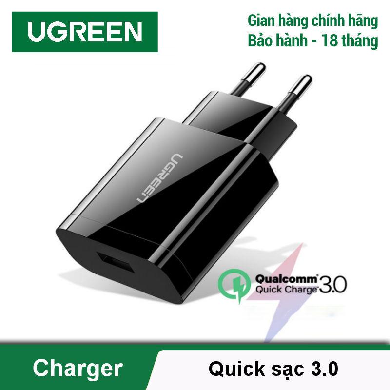 Sạc nhanh Quick Charge 3.0 chân cắm chuẩn Châu âu (EU) UGREEN CD122 - Hãng phân phối chính thức