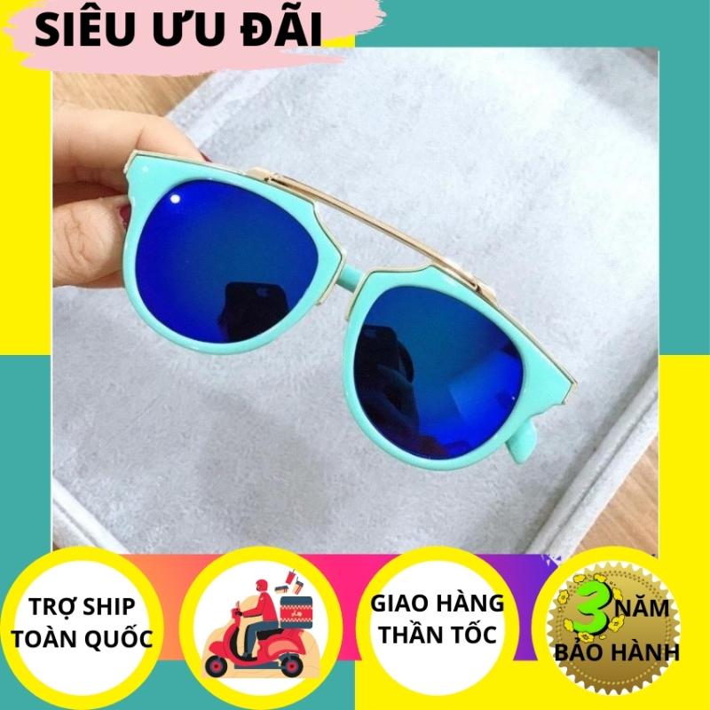 Mua kính mát trẻ em MT2910 mắt kính tráng gương xanh gọng xanh cao cấp - PMT