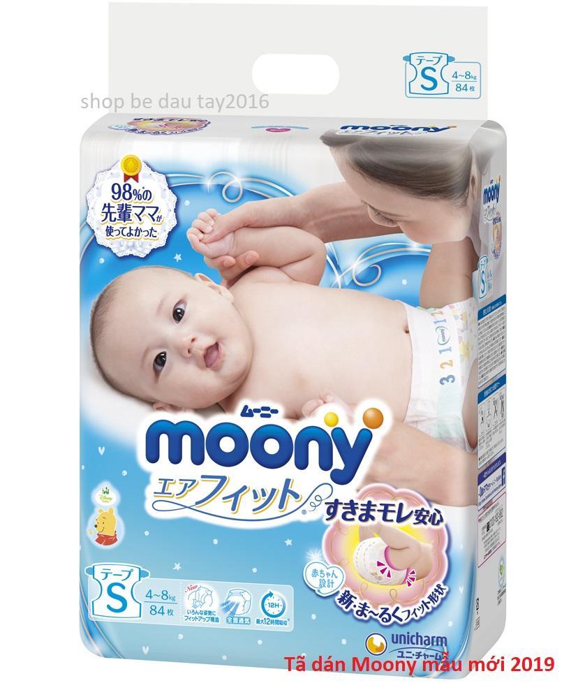 Tã Dán Moony Nhật Size S84 (4 - 8 Kg) Đang Ưu Đãi