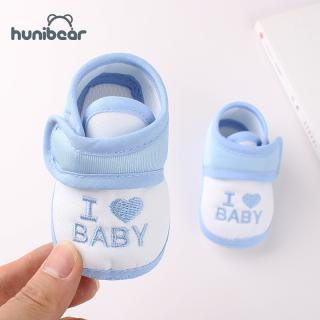 Giày em bé chất liệu cotton mềm mại thiết kế dán dễ sử dụng kèm đế chống trượt, phù hợp cho bé 0-3 tuổi
