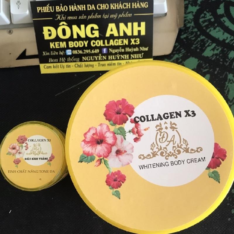 Combo Kem body collagen x3 và siêu kích trắng collagen x3 (xịn) giá rẻ