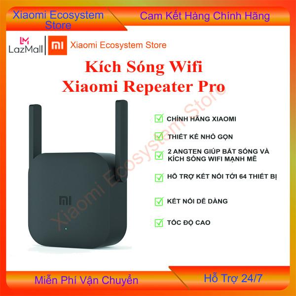 [BẢN Q TẾ- DIGIWORLD ] Bộ kích sóng wifi  Xiaomi Repeater Pro, cục hút wifi Xiaomi, thu phát sóng wifi Xiaomi, kích wifi - tốc độ 300Mbps | kết nối tối đa 64 thiết bị