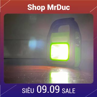 Đèn pin sạc xách tay siêu sáng 4 in 1 - có thể sạc bằng điện hoặc sạc bằng năng lượng mặt trời (đèn pin, đèn chiếu xa, đèn chiếu sáng, sạc dự phòng cho điện thoại) - Shop MrDuc thumbnail
