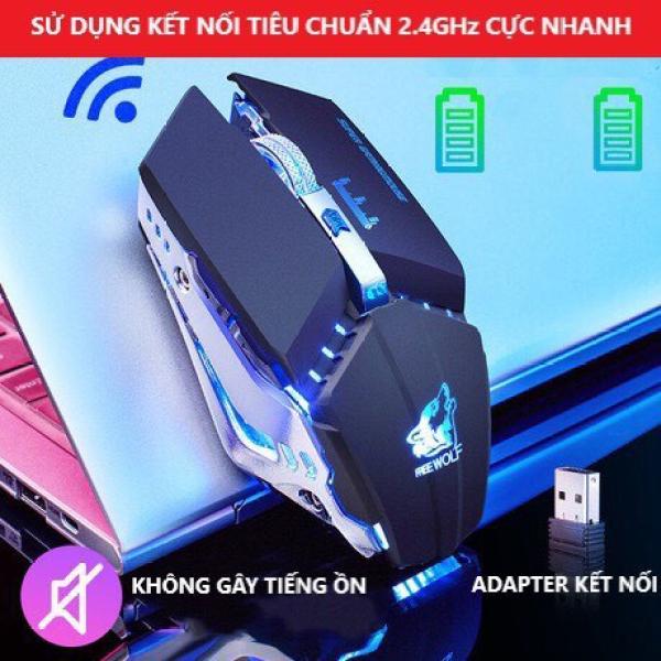 Bảng giá Chuột Không Dây GAMING FREE Wolf X11 Wireless 2.4GHz Bản Cao Cấp Pin Sạc Dùng Cho Máy Tính PC Chơi Mọi Tựa Game Cổng Kết Nối USB Phong Vũ