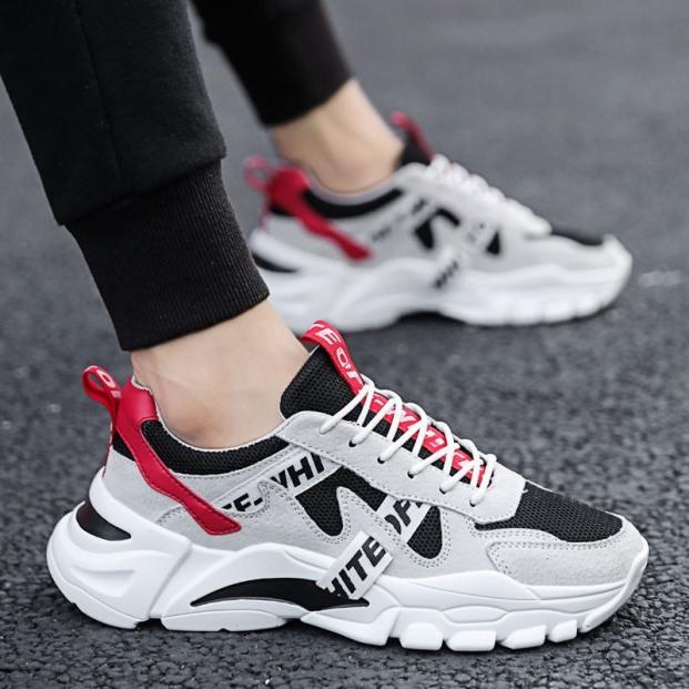 Giày thể thao chống trơn trượt Phối Chữ - Sudoo, đế độn tổng hợp êm chân, phong cách bụi bặm bền đẹp giá rẻ