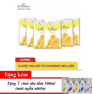 [TẶNG 1 CHAI SỮA TẮM] Combo 6 Nước hoa bỏ túi Enchanteur Charming 18ml hộp thumbnail