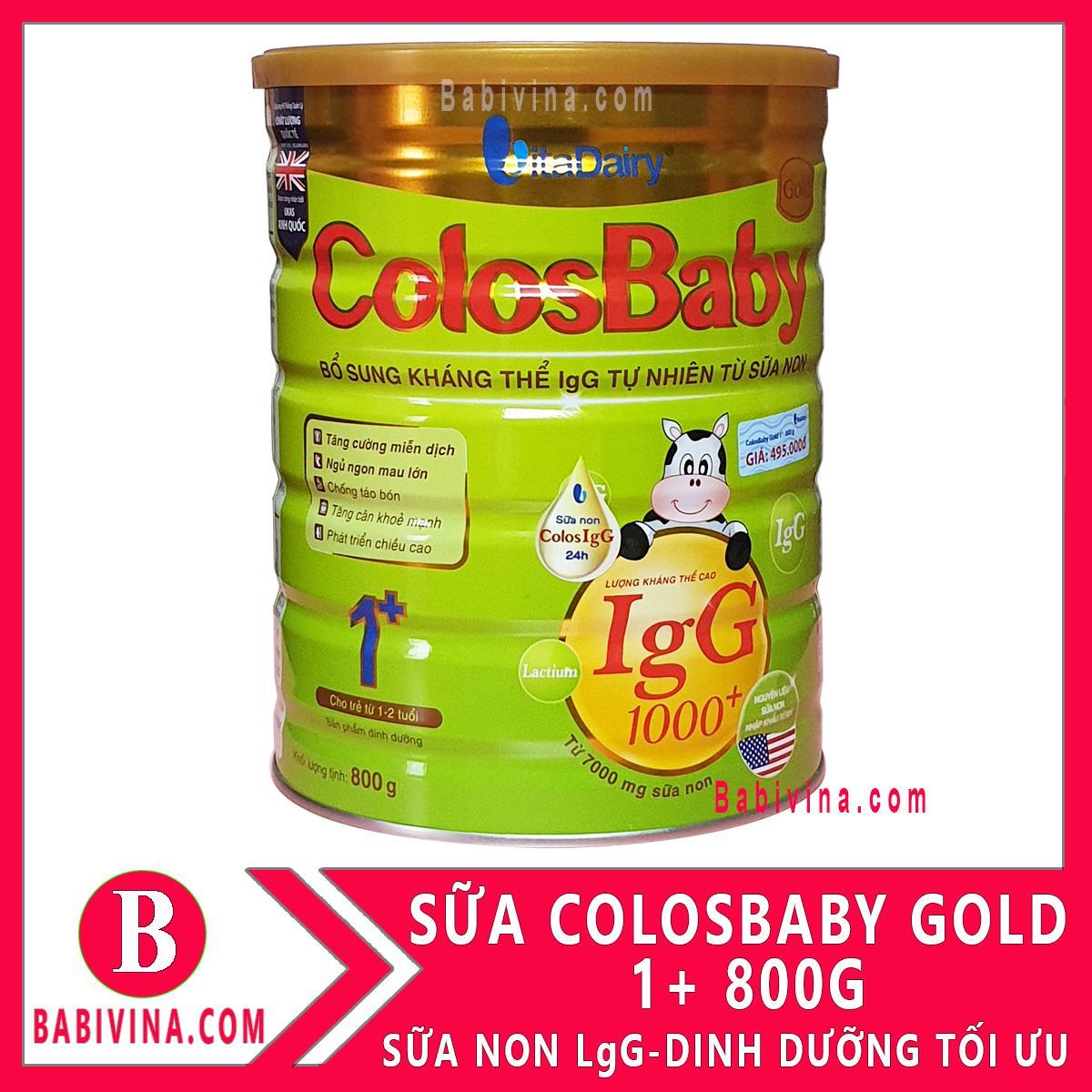 [LẺ GIÁ SỈ] Sữa Bột Colosbaby 1+ 1000lgG 800g Sữa...