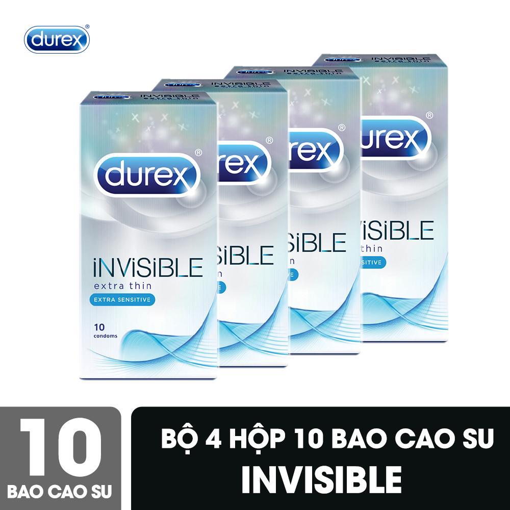 Bộ Bao Cao Su Durex Invisible 4 Hộp 10 Bao nhập khẩu