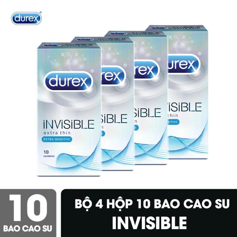 Bộ Bao Cao Su Durex Invisible 4 Hộp 10 Bao cao cấp