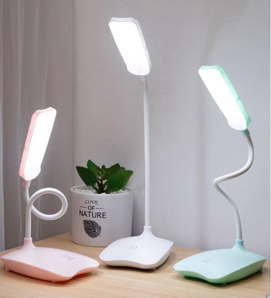 [HCM]Đèn học để bàn sạc pin Bo Gou 7008  với 3 mức điều chỉnh được độ sáng – dùng được nguồn từ sạc dự phòng