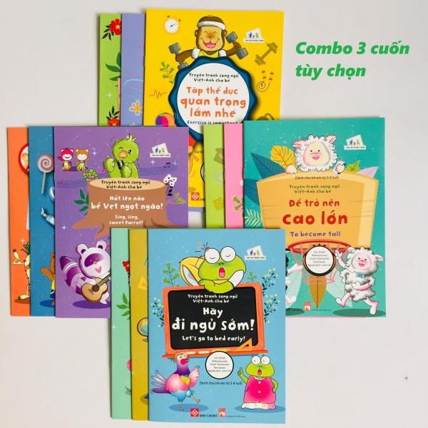 Sách - Combo  3 cuốn Truyện tranh song ngữ Việt - Anh cho bé