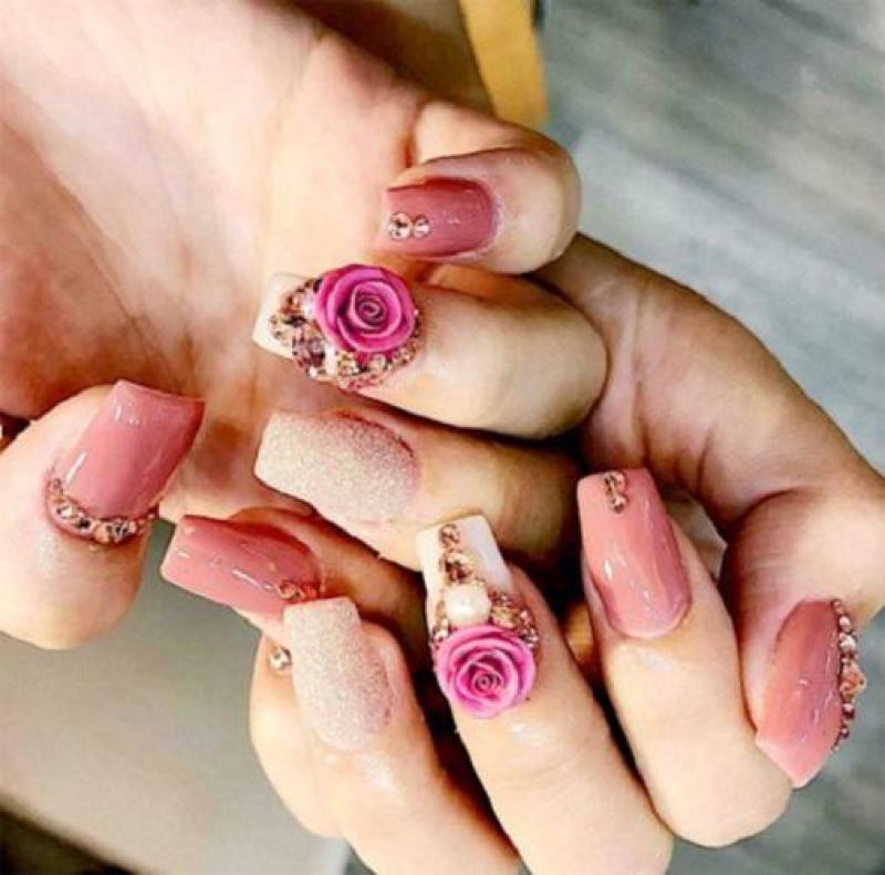 Hoa nổi 4D ,Fantasy HN001 set 2 hoa theo màu. Sản phẩm trang trí móng , vẽ nổi, Nail desige , hoa vẽ nổi . Hoa dễ bẻ from móng(hàng vẽ tay không đổ khuôn )