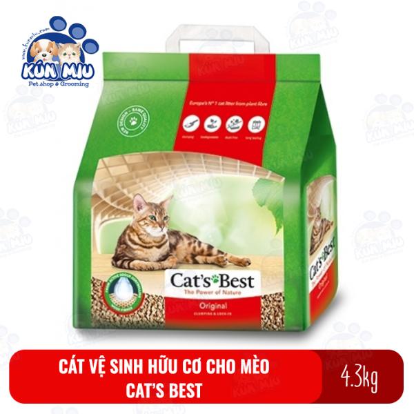 Cát vệ sinh hữu cơ cho mèo Cats Best Original 10L (4.3kg)
