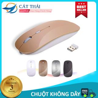 Chuột không dây 2.4G Cát Thái không âm thanh gây ồn không phát quang thích hợp chuột văn phòng nhỏ nhẹ kiểu dáng như chuột mac book thumbnail