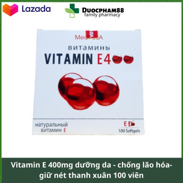 Vitamin E nha đam dưỡng da chống lão hóa điều hòa kinh nguyệt 100 viên