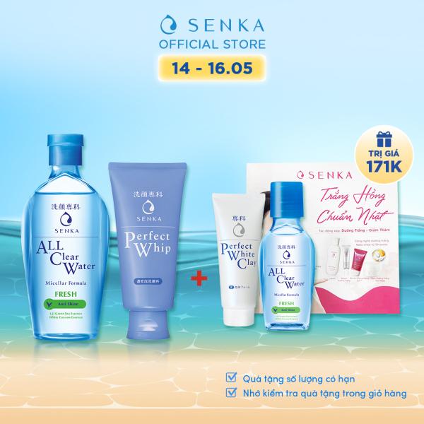 Bộ sản phẩm Senka làm sạch da dành cho da dầu giá rẻ