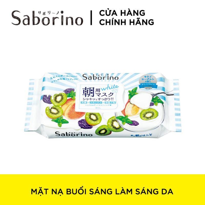 Mặt Nạ Dưỡng Ẩm Làm Sáng Da Buổi Sáng Saborino Morning Facial Sheet Mask Fresh White (Gói 28 Cái) tốt nhất
