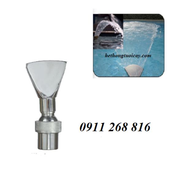 Đầu phun nước hình mỏ vịt có chỉnh góc INOX phi 48mm