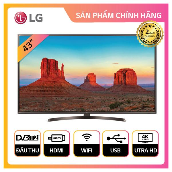 Smart TV LG 43inch 4K Ultra HD - Model 43UK6340PTF (Đen) - Hãng phân phối chính thức