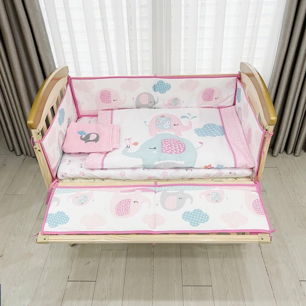 Quây vải Umoo set 7 món cao cấp cho cũi gỗ thumbnail