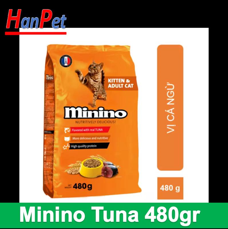 Hạt khô cho mèo Minino 480g (vị cá ngừ)