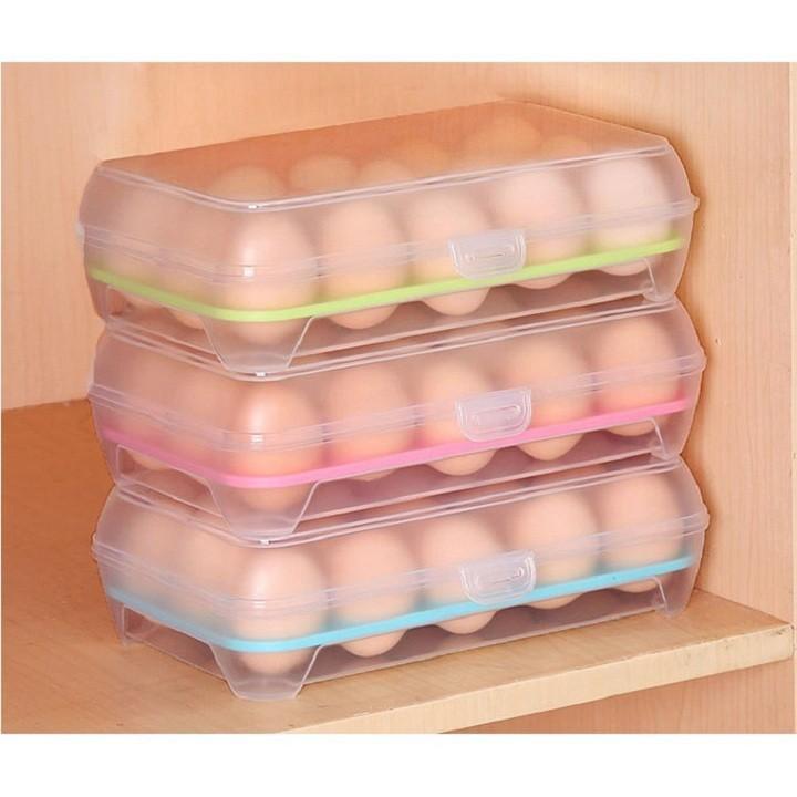 Khay đựng trứng bằng nhựa đa năng tiện dụng (Màu ngẫu nhiên)