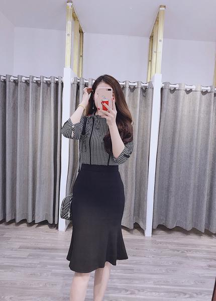 Chân váy đuôi cá 2 lớp Cao Cấp Cúc Fashion DC1