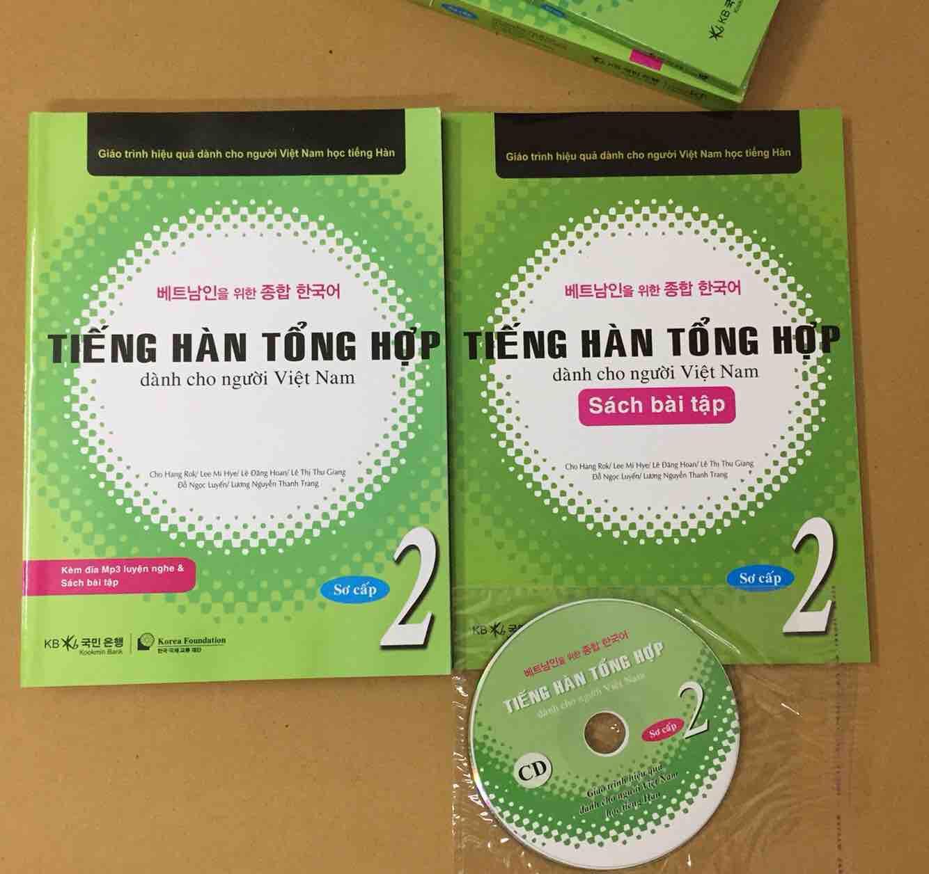 Tiếng Hàn Tổng Hợp Tập 2 ( Sách Học + Bài Tập +cd) Bất Ngờ Ưu Đãi Giá