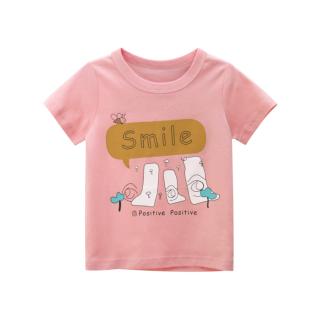 [ VIDEO ] F152 Áo thun bé gái 27KIDS chất liệu 100% cotton in hình SMILE cho bé từ 10-33kg (2 tuổi -10 tuổi ) an toàn mềm mịn thích hợp cho bé đi học đi chơi thumbnail