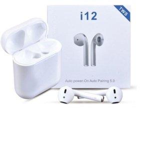 Tai nghe bluetooth i12 TWS phiên bản nâng cấp tai nghe âm thanh 8D, tai nghe i12 s nút điều khiển cảm ứng, mở nắp tự kết nối, tương thích với mọi hệ điều hành 6
