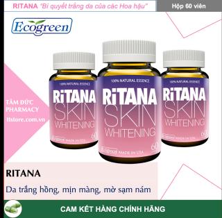 RITANA [Hộp 60 viên] - Viên uống trắng da Hoa hậu Da trắng hồng, mờ sạm nám thumbnail