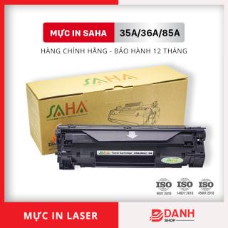 Hộp mực 35A 36A 85A (Có CHIP ) Dùng cho máy in HP Laser - Canon LBP - Thương hiệu SAHA thumbnail