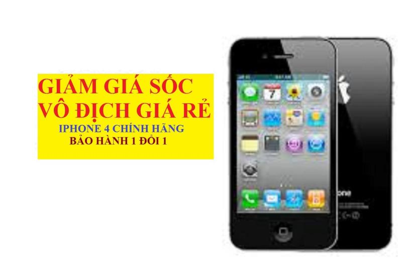 Điện thoại Xịn cảm ứng Giá rẻ - IPHONE 4 16G/8gb Quốc Tế sim nghe gọi - BH 12 tháng