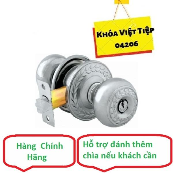 Khóa tay nắm tròn Việt Tiệp , khóa cửa nhôm, Khóa cửa gỗ - có hỗ trợ đánh thêm chìa