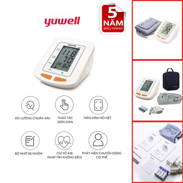 Máy đo huyết áp điện tử bắp tay chính hãng YUWELL 660C nhập khẩu