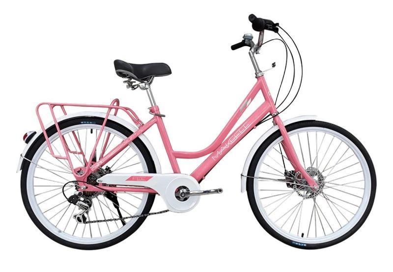 Phân phối Xe đạp thời trang Makefee 24 Hồng