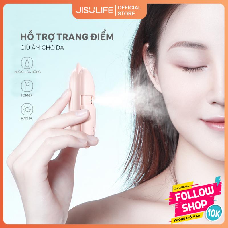 Máy phun sương nano xông hơi mặt cầm tay mini Jisulife BS01- 15ml cấp ẩm tươi mát cho làn da, chống trôi phấn trang điểm và dễ dàng tẩy trang Kitten - Chính hãng Bảo hành 12 tháng)