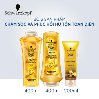 Bộ 3 sản phẩm dầu gội, dầu xả và kem ủ chăm sóc và phục hồi hư tổn toàn diện Schwarzkopf Extra Care 8 Precious Oil thumbnail