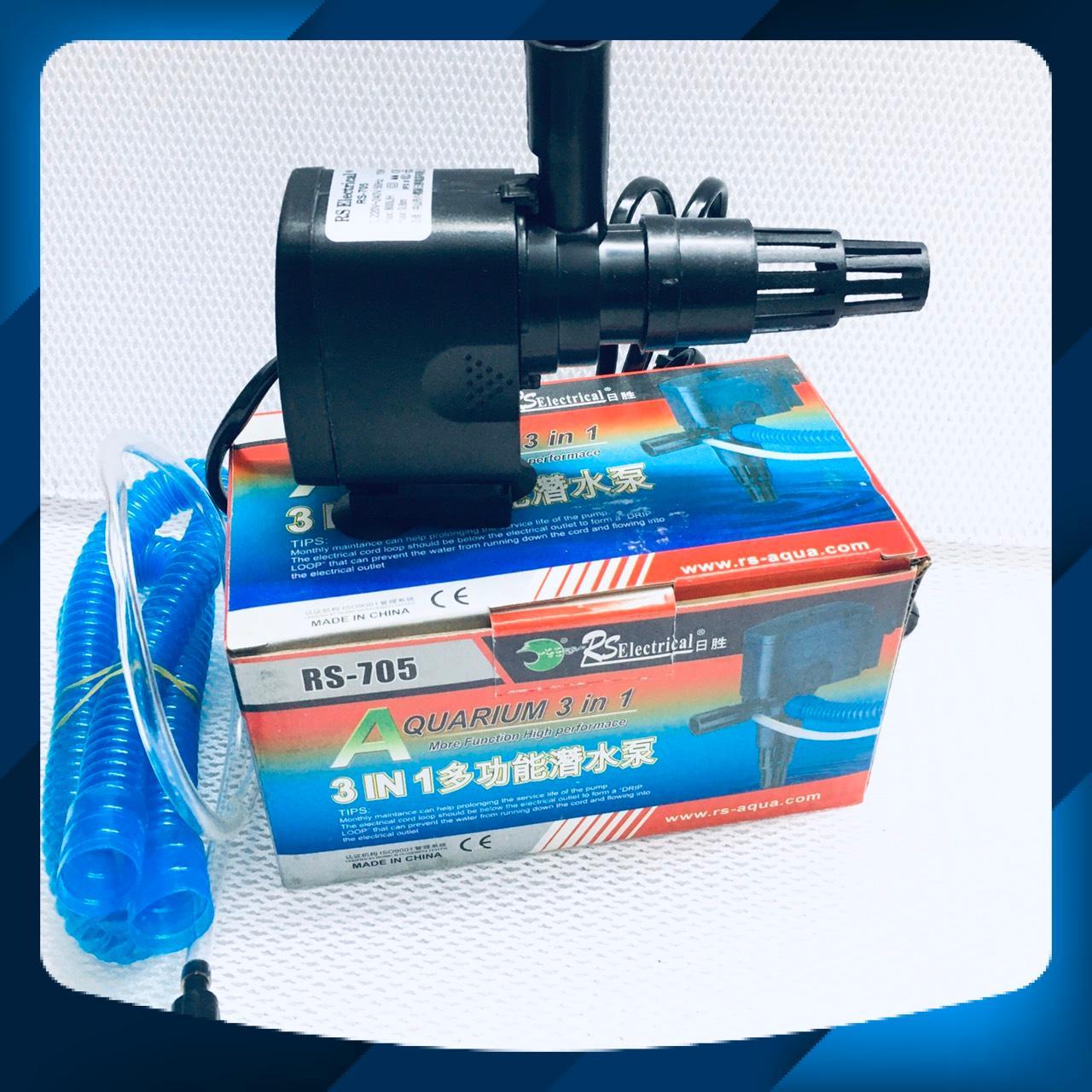 Máy bơm nước bể cá RS-705, đầu máy bơm, máy lọc (15W, 800L/H)
