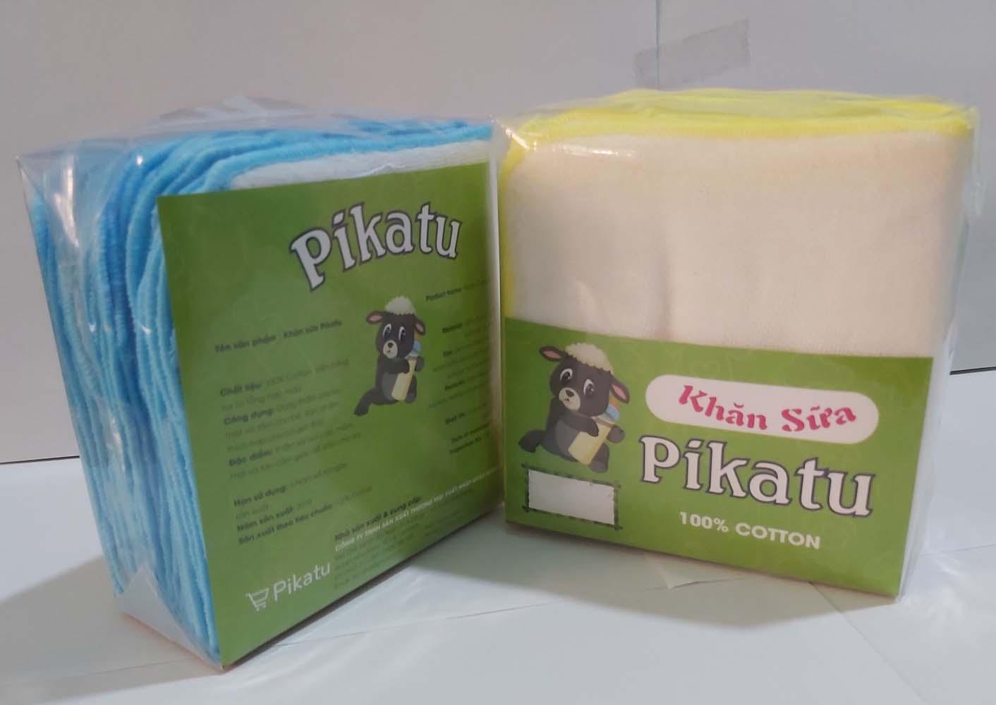 Khăn sữa Nhật em bé Pikatu 3L 25X27