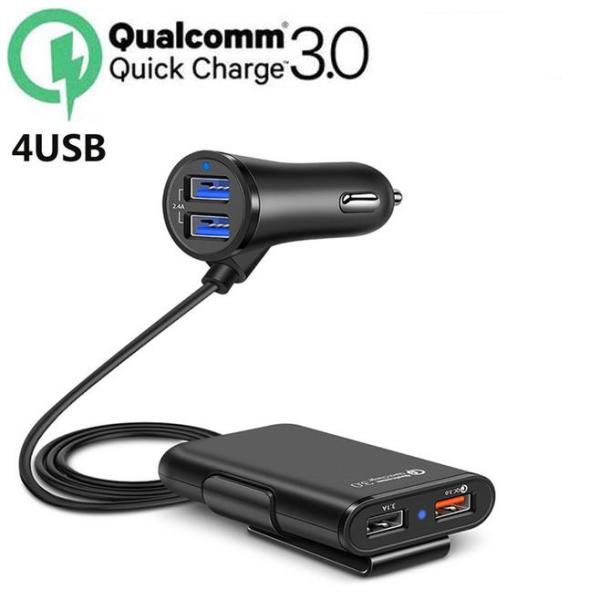 Tẩu sạc ô tô Củ sạc nhanh QC3.0 dành cho ô tô 4 cổng sạc, tẩu sạc ô tô sạc nhanh QC3.0 Tẩu sạc oto,tau sac xe,Tẩu Sạc USB, Cốc sạc,dock sạc, tẩu sạc ô tô, củ sạc đa năng cho xe hơi, xe ôtô 4 cổng USB bộ chia tẩu sạc ô tô củ sạc ô t