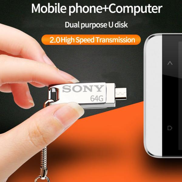 Bảng giá SONY 64GB Ổ đĩa flash USB OTG Điện thoại thông minh Ổ USB gắn ngoài Ổ đĩa Bút nhớ Thẻ nhớ U Disk cho Android PC Phong Vũ
