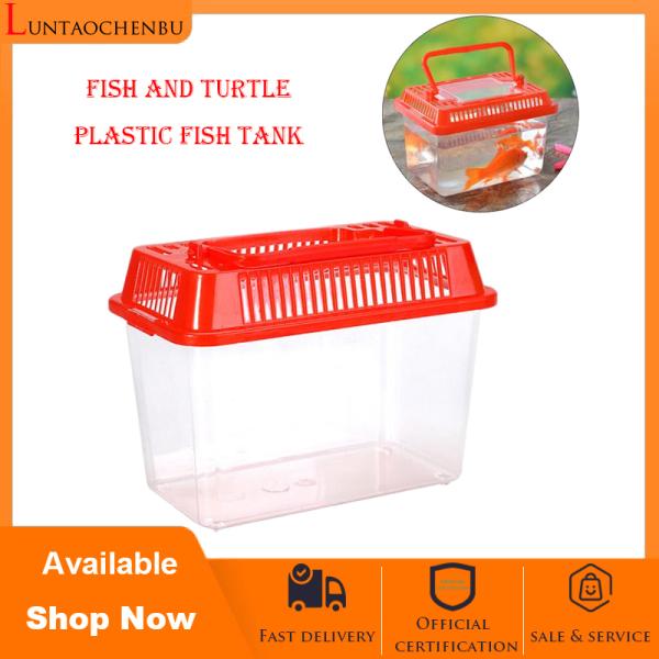 Bể cá Bể cá bằng nhựa Bể cá cầm tay Rùa Bể cá bằng nhựa Bò sát sinh sản Hộp thú cưng Hộp vận chuyển trong suốt Hộp đựng rùa Đồ dùng cho Hồ cá