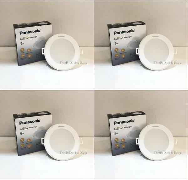 Bộ 4 Đèn Panasonic LED Downlight âm trần NNNC7596488 9W (Trắng/Vàng)