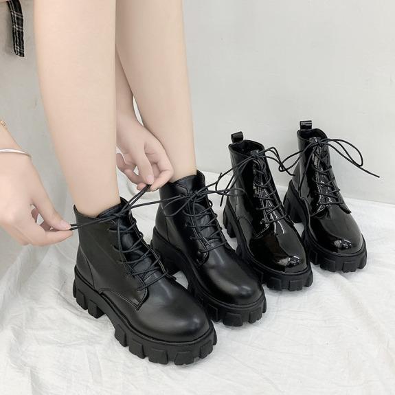 Giày Bốt Nữ Martin Gót Vuông Cao Cấp Thời Thượng Tăng Chiều Cao giá rẻ
