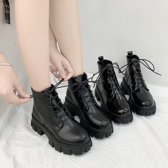 Giày Bốt Nữ Martin Gót Vuông Thời Trang Phong Cách Hàn Quốc giá rẻ