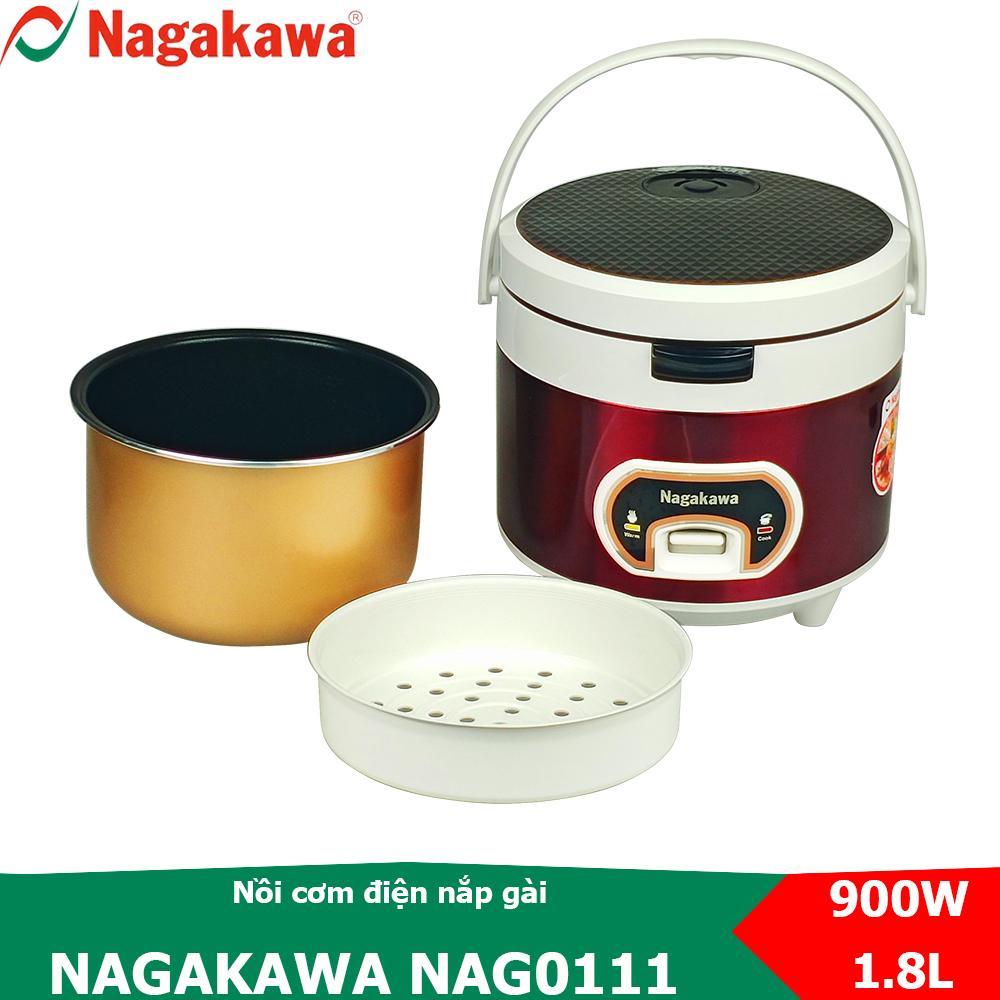 Deal Khuyến Mãi Nồi Cơm điện Nắp Gài 1.8L Nagakawa NAG0111 Thích Hợp Cho 4 -6 Người ăn