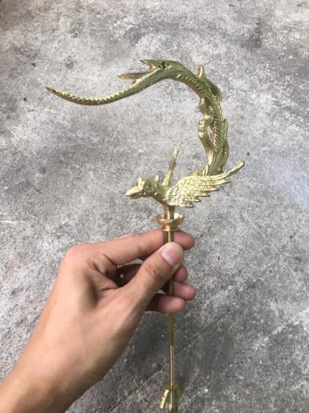 Móc treo lồng chim bằng đồng - móc phụng hoàng