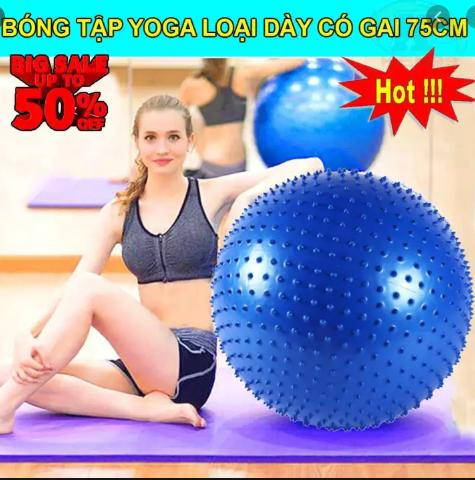 [SALE SẬP SÀN HÔM NAY] Tham Tap YoGa - Thảm Tập Yoga TPE Cao Cấp 2 Mặt, Thảm Tập Yoga - Tham Tap Yoga TPE Cao Cap 2 Mat - Bóng Gai Hỗ Trợ Tập Yoga Loại To 75cm Hàng Dày đẹp Loại Xịn Ưu Đãi Bất Ngờ